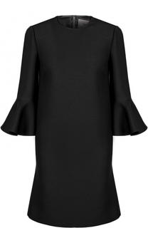 Платье-миди с расклешенными рукавами и круглым вырезом Valentino