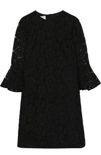Кружевное платье-миди с расклешенными рукавами Valentino