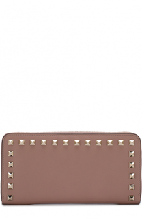 Кожаное портмоне на молнии Rockstud Valentino