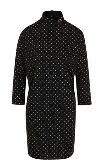Мини-платье свободного кроя с воротником-стойко Marc Jacobs