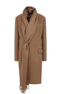 Приталенное пальто из смеси шерсти и кашемира Givenchy