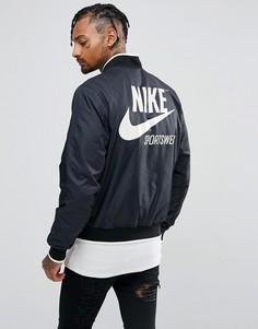 Черный пуховый бомбер Nike Archive 941851-010 - Черный