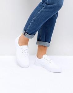Кроссовки на шнуровке ASOS DEMBY - Белый