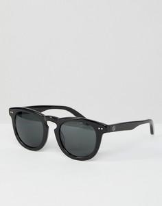 Черные солнцезащитные очки в стиле ретро Stussy - Черный
