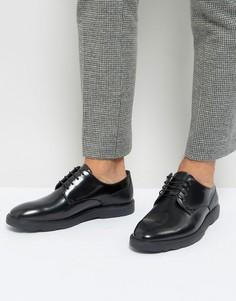Черные блестящие туфли на шнуровке Silver Street - Черный