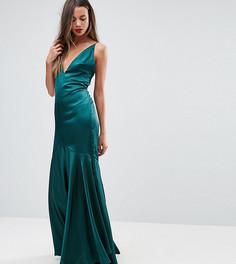 Платье макси на бретельках с годе TTYA BLACK - Зеленый Taller Than Your Average