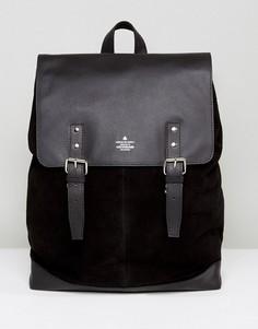 Рюкзак из замши и кожи ASOS - Черный