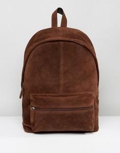 Коричневый замшевый рюкзак ASOS - Коричневый