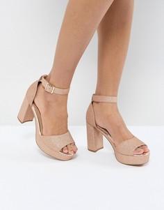 Босоножки на каблуке ASOS HEIDI - Золотой