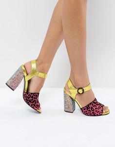 Босоножки на каблуке с отделкой ASOS HAZARDOUS - Мульти