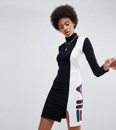 Платье с отворотом и логотипом Fila - Черный