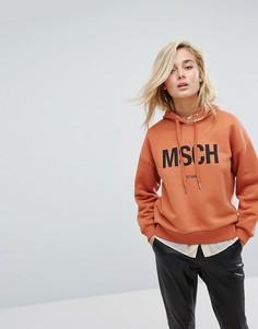 Худи оверсайз с логотипом Moss Copenhagen - Оранжевый