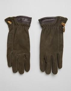 Коричневые перчатки из нубука Timberland - Коричневый