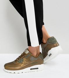 Золотистые кроссовки Nike Air Max 90 Premium - Золотой