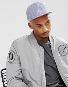 Серая меланжевая бейсболка с логотипом Alpha Industries - Серый