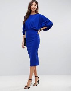 Платье-футляр миди ASOS - Синий