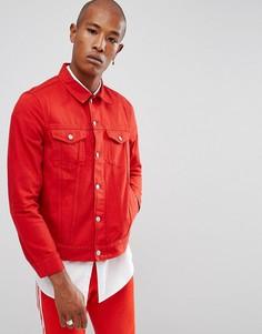 Красная джинсовая куртка на пуговицах Weekday - Красный