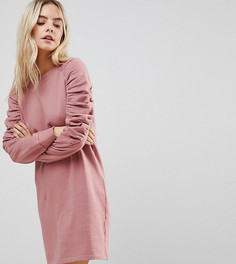 Трикотажное платье ASOS PETITE - Розовый