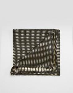 Золотистый фактурный платок для нагрудного кармана ASOS - Золотой
