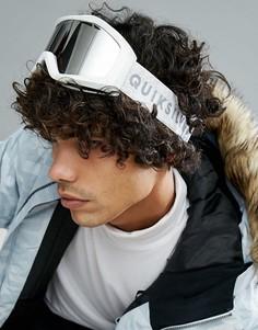 Белые защитные лыжные очки со светоотражающими стеклами Quiksilver Fenom - Белый