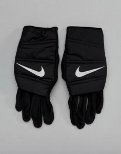 Черные стеганые перчатки Nike Running RG.I9-042 - Черный
