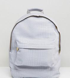 Серый рюкзак из искусственной крокодиловой кожи Mi-Pac - Серый