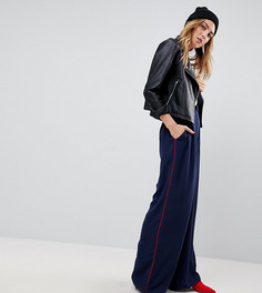 Спортивные штаны с контрастным кантом ASOS TALL Tailored - Темно-синий