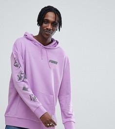 Фиолетовый худи с принтом на спине Puma эксклюзивно для ASOS - Фиолетовый