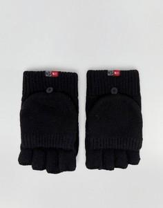 Черные варежки-перчатки The North Face - Черный