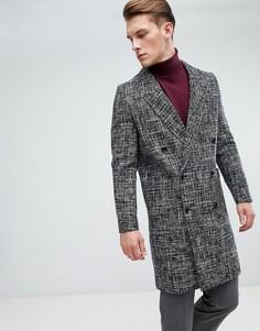 Черное шерстяное пальто New Look - Черный