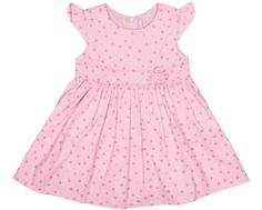 Платье детское Barkito «Зимняя сказка 1», розовое с рисунком «сердечки»