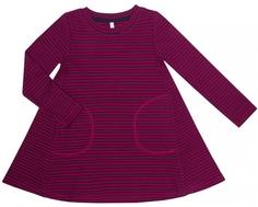 Платье детское Barkito «Поп-арт 1», бордовое с рисунком в полоску