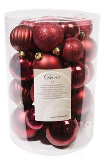 Украшение Kaemingk Набор шаров Новогодняя коллекция 34шт Red 023152