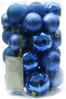 Украшение Kaemingk Набор шаров Новогодняя коллекция 34шт Blue 945547