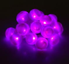 Гирлянда Luazon Метраж Большие шарики 6m LED-20-220V Purple 186619