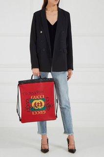 Красный кожаный рюкзак Coco Capitan Gucci