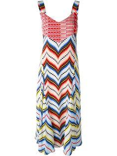платье с зигзагообразным узором  Kenzo