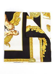 галстук с принтом тигра Versace