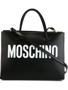 квадратная сумка-тоут с принтом-логотипом Moschino