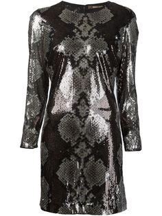 платье с эффектом кожи питона Roberto Cavalli
