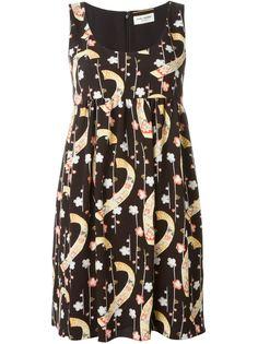 расклешенное платье без рукавов Saint Laurent