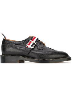 туфли-броги с ремешком на пряжке Thom Browne
