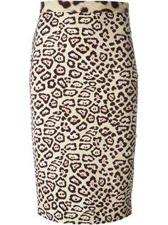 юбка с леопардовым принтом   Givenchy