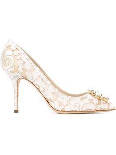 декорированные туфли из кружева Dolce & Gabbana