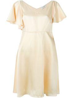 расклешенное платье  Saint Laurent