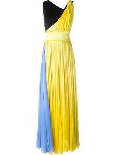 длинное платье дизайна колор-блок Fausto Puglisi