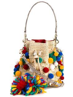 сумка-мешок с помпонами Dolce & Gabbana