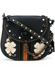 сумка через плечо с цветочной вышивкой Coach