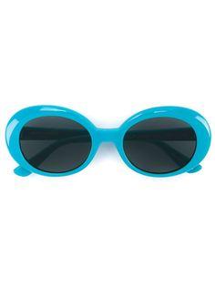 солнцезащитные очки в овальной оправе Saint Laurent Eyewear