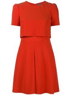 приталенное платье с короткими рукавами Alexander McQueen
